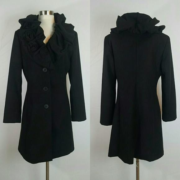 promo code f8ac0 cd58d Rinascimento Black Cappotto Coat Made in Italy L